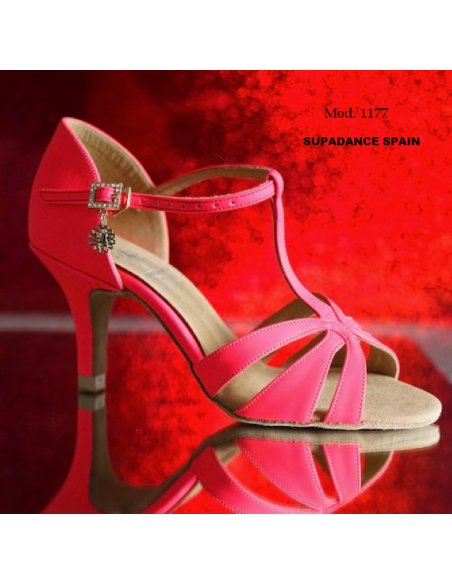 zapatos de baile latino 1177 pink fluor